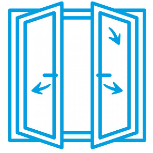 Ahşap Çift Kanat Çift Açılım Sistem