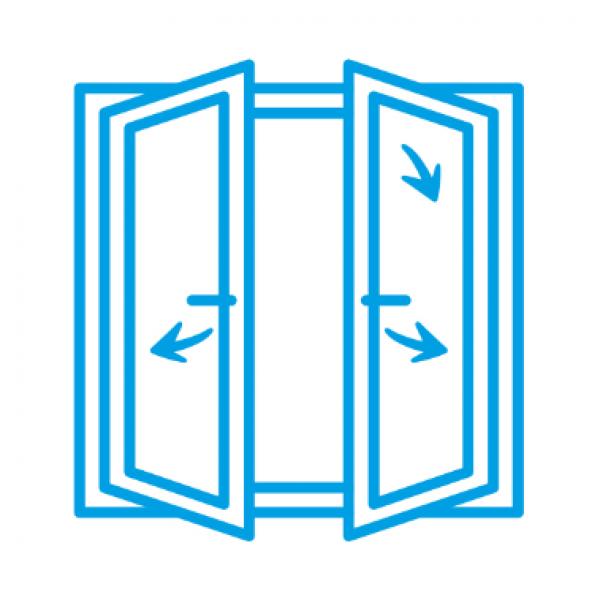 Alüminyum Tijli Çift Kanat Çift Açılım Sistem