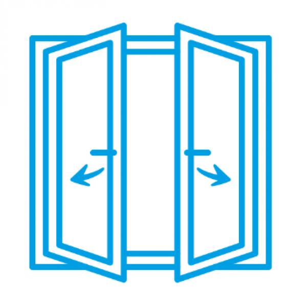 Alüminyum Tijli Çift Kanat Tek Açılım Sistem